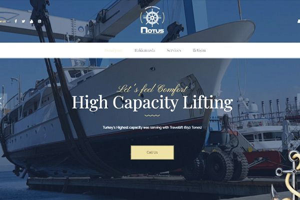 Notus Yacht  Website